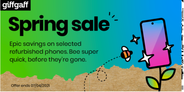 Put a spring in your step with giffgaff's spring sale on refurbished phones